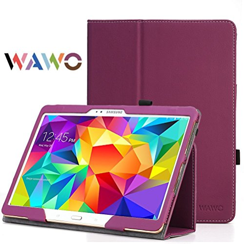 Wawo Creative Smart Cover Folio Case For Samsung Galaxy Tab S 10.5 Inch Tablet-Purple front-998460