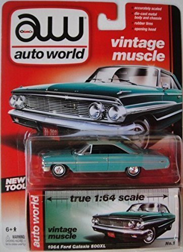 AUTO WORLD VINTAGE MUSCLE 1964 FORD GALAXIE 500XL