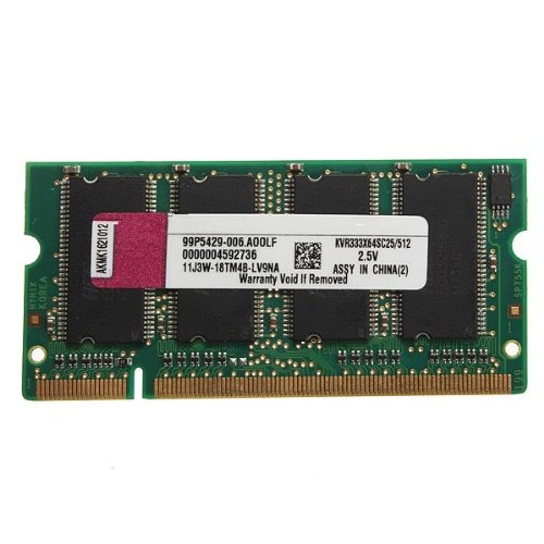 512mb ddr-333 kit pc2700 (sodimm) ram di memoria 200-pin per
