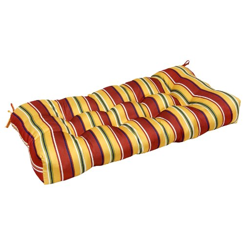 Greendale Home Fashions 42-Inch Indoor/Outdoor Sette Cushion, Carnival Stripe picture