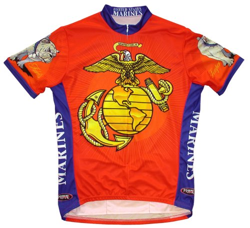 Buy Low Price Primal Wear Men's US Marines Military Short Sleeve Cycling Jersey – USMCJER (USMCJER)