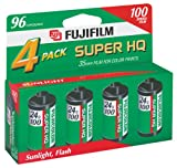 Fujifilm Super HQ 100 Speed 24 Exposure 35mm Film (4 Pack)