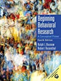 img - for Beginning Behavioral Research: A Conceptual Primer (4th Edition) book / textbook / text book