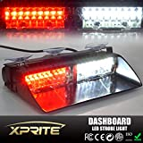 Generic Car 16-led 18 Flashing Mode Emergency Vehicle Dash Warning Strobe Flash Light Red White