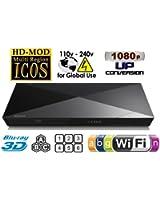 2014 Lecteur Blu-Ray SONY BDP-S5200 2D/3D Wi-Fi Multi-région, de la Zone et pour Lecteur DVD Blu-Ray-PAL/NTSC-Worldwide tension 100 ~240 V : 1 câble USB, 1 câble HDMI, 1 câble coaxial, 1 ETHERNET connecteurs + Câble HDMI de 1,83 m inclus.