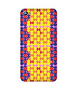 Stripes And Elephant Print-86 Micromax Canvas Fire 4 A107 Case