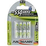Ansmann HR03 Piles rechargeables NiMh 4 X AAA 550mAh