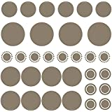 Polka Dot Wall Decals Room Decor, 32 Stickers, 5 Size Variety, Dark Grey