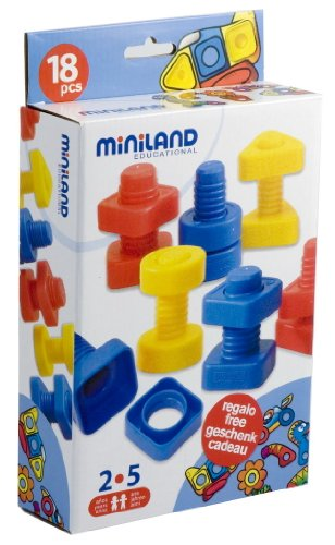 Miniland Nuts and Bolts (18 Pieces) - 1