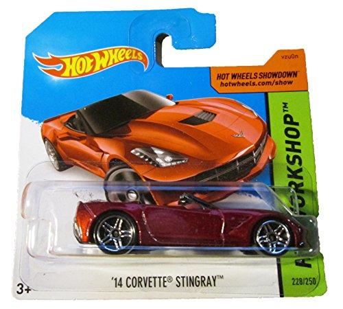 Hot Wheels - HW Workshop 228/250 - '14 Corvette Stingray (red) on Short Card - 1