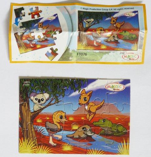 Kinder Überraschung, Natoons Puzzle 2013 mit FT076 (Puzzle mit Beipackzettel)