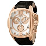 Invicta Men's 6737 Lupah Collection Chronograph Black Leather Watch