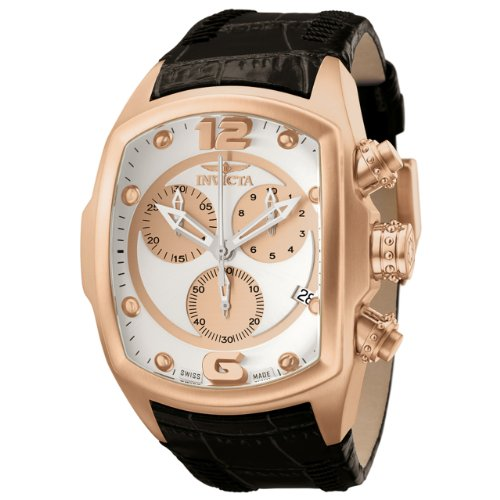 Invicta Men's 6737 Lupah Collection Chronograph Black Leather Watch at Sears.com