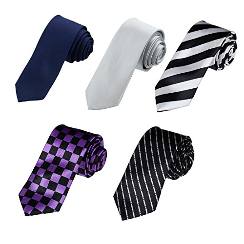 DAN3001-Multiple-Slim-Ties-Microfiber-5-Skinny-Ties-Set-By-Dan-Smith