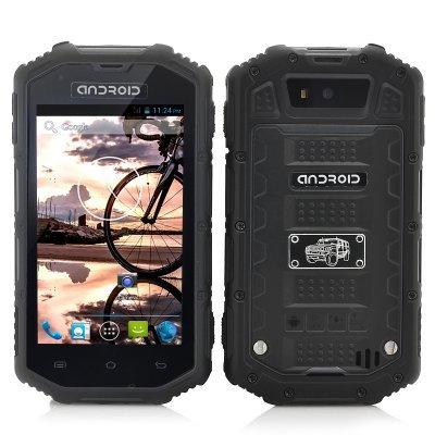 SHOPINNOV Smartphone robuste Android Noir Ecran 4 pouces Résistant à l'eau, à la poussière et aux chocs