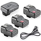 Neewer 16 Channel Wireless Flash Trigger Set: 1 Transmitter + 3 Receivers + 1 Sync Wire Cable for Canon, Nikon, Pentax, Sigma, Vivitar and Other Flash Units with Universal Hot Shoe