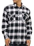 (ルーシャット) Roushatte 大きいサイズ メンズ シャツ ネルシャツ 長袖 チェック 柄 7color 5L ダークグレイ