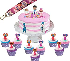 Doc Mcstuffins Cake Decorating Kit : Doc McStuffins Cake Decoration Toppers & Cupcake Set & Party Lanyard: Amazon.com: Grocery ...