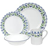 Corelle Impressions 16-Piece Dinnerware Set, Service for 4, French Lilac