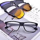 Jcerki Polarizing Sunglasses Reading glasses Lenses +2.50 Strengths Tr90 Lightweight Frame Readers glasses With 5 Interchangeable Lenses (Color: Black, Tamaño: 2.5)
