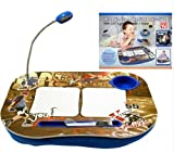 LAPTOP CUSHION PORTABLE READING LAP TOP TRAY TABLE WITH 5 LED LIGHT & CUP HOLDER (PORTABLE BOY)
