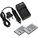 Maximal Power FC500 NIK ENEL5+DB NIK EN-EL5x2 Wall/Car/USB Camera Battery Charger With 2 Piece Batteries (Black)