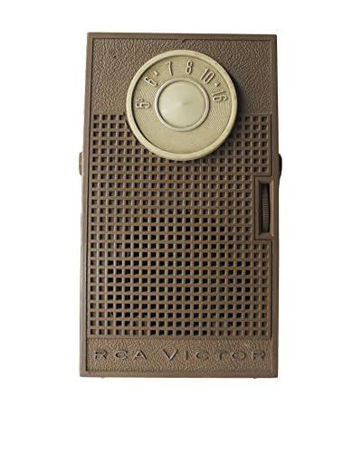 1950s Vintage RCA Victor Transistor Radio, Cream/Tan