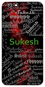 Sukesh (Good Hair) Name & Sign Printed All over customize & Personalized!! Protective back cover for your Smart Phone : Samsung Galaxy Note-5