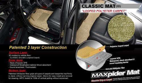 3D MAXpider Custom Fit Floor Mat for Select BMW X3 Models - Classic Carpet 3d maxpider custom fit floor mat for select bmw x3 models classic carpet