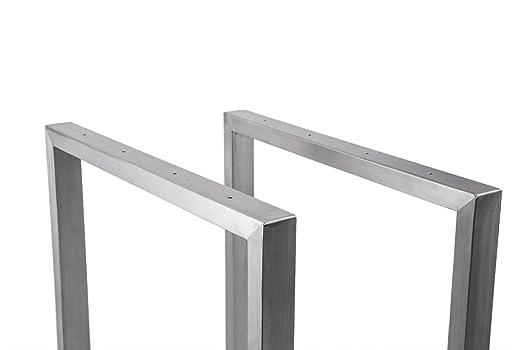 Tavolo con struttura in acciaio inossidabile trg700base tavolo kufe pattini struttura 700larghezza