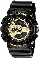 G-Shock Men's Military GA-110 Watch, Black/Gold, One Size
