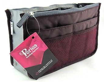 Periea Handbag Organiser, Liner, Insert 12 Pockets Large - Wine - Chelsy