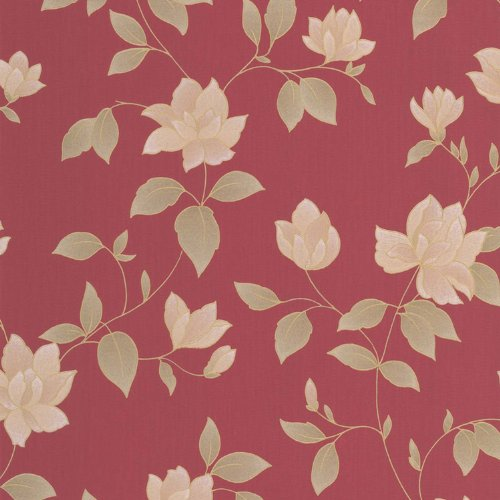 "Rote Tapete Mit Blumenmuster : Graham & Brown Vlies-Tapete ""AMY"" Kollektion Botanica, mehrfarbig, 32"