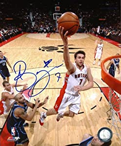 ANDREA BARGNANI Toronto Raptors SIGNED 16x20 Photo by AJ Sports World