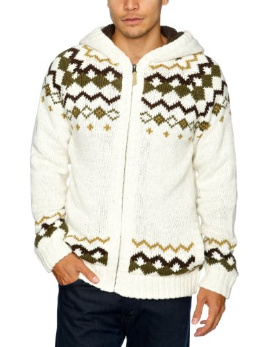 Animal Wareham Men's Jumper Ecru Marl Small CL2WA079-J25-S