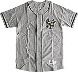 ベースボールシャツ ニューヨークヤンキース 胸ロゴ 迷彩プリント 高級綿100%仕様(XXL、グレー)