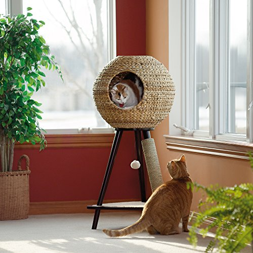 Sauder Woodworking Natural Sphere Cat Tower