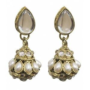 Buy Karatcart Kundan Borla Earrings For Women Online At