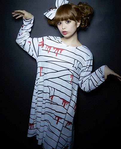 ハロウィンコスチューム 桃雪姫モノトーンストリートシリーズ ゾンビガール レディース155~165cm 着丈88cm