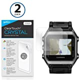 Garmin Epix Screen Protector, BoxWave [ClearTouch Crystal (2-Pack)] HD Film Skin - Shields From Scratches for Garmin Epix (Color: Crystal Clear (2-Pack), Tamaño: Garmin Epix)