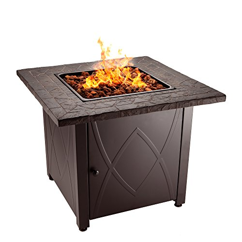Blue-Rhino-Outdoor-Propane-Gas-Fire-Pit-Lava-Rocks