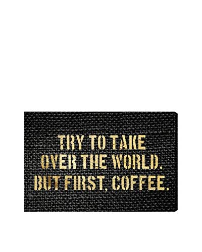 Oliver Gal Coffee First Canvas Art