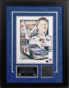 Dale Earnhardt, Jr. Bud Shootout Autographed Lithograph with Piece of Tire - Memories... by Sports Memorabilia