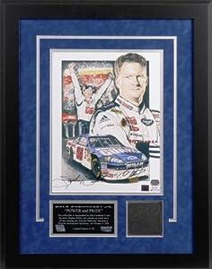 Dale Earnhardt, Jr. Bud Shootout Autographed Lithograph with Piece of Tire - Memories... by Sports Memorabilia
