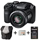 Fujifilm FinePix S4800 - Black + Case + 32GB Memory + 4 AA Batteries and Charger (16 MP, 30x Optical Zoom) 3.0 inch LCD