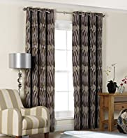 Hadley Striped Eyelet Curtains