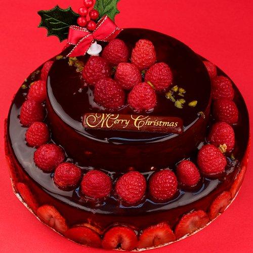 2段デコレーションショコラケーキ