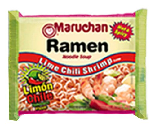 Maruchan Ramen, Lime Chili Shrimp, 3-Ounce Packages (Pack of 24) (Ramen Noodle Chili compare prices)