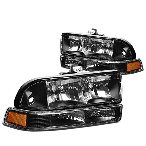 DNAMotoring HL-OH-S10984P-BK-AM Headlight Assembly, Driver and Passenger Side (S10 Headlight Assembly compare prices)