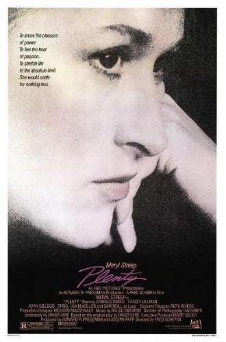 PLENTY original 1985 rolled 27x41 one sheet movie poster MERYL STREEP